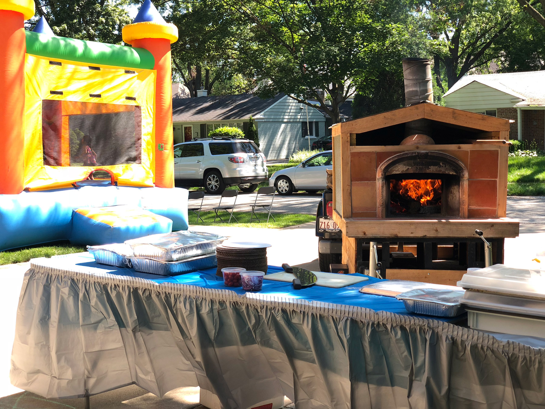 on site mobile pizza oven twisted trunk catering